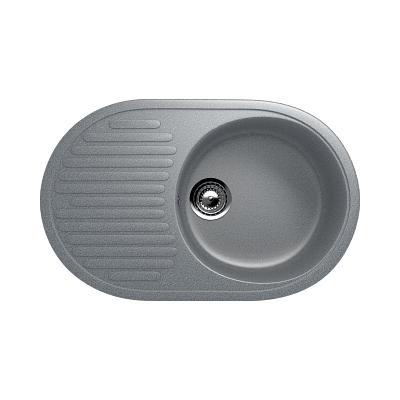 Врезная кухонная мойка EcoStone ES-16 309 темно -серый