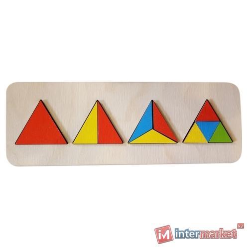 Пазл-рамка для малышей Геометрия Треугольники