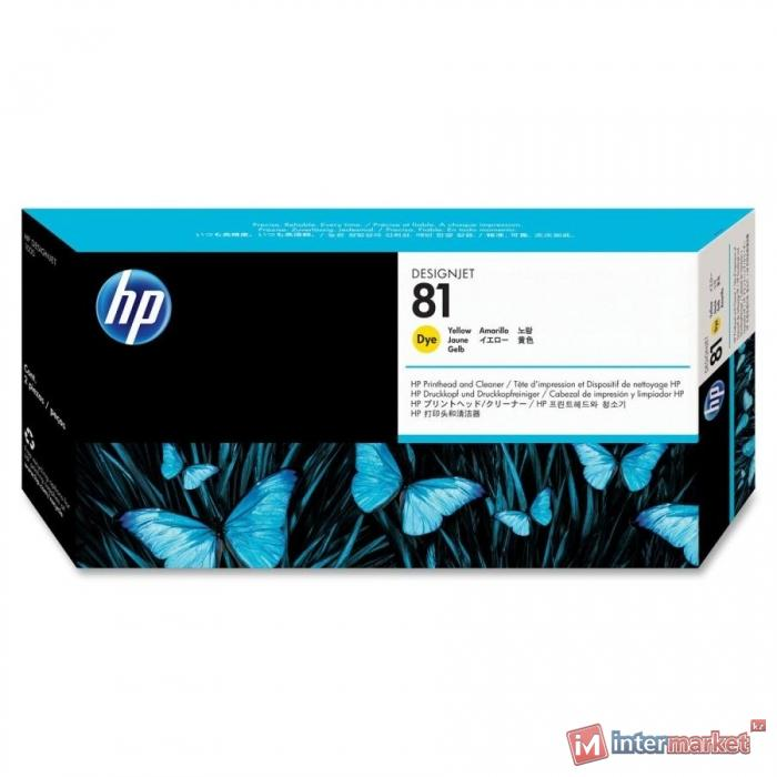 Печатающая головка HP C4953A 81, Yellow (с устройством очистки)