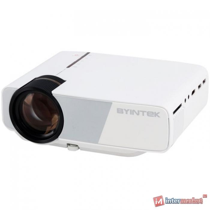 Проектор, BYINTEK, K1 Plus, LCD, 800x480, 160 ANSI люмен, 1800:1, Передача изображения со смартфона по USB, Белый