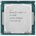 Процессор Intel Core i3-8100 Coffee Lake (OEM)