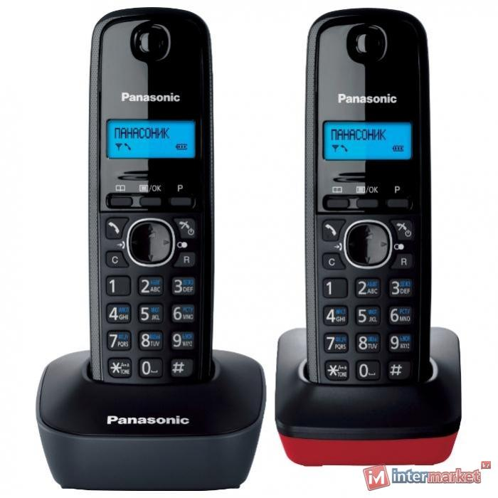 Радиотелефон PANASONIC KX-TG1612CA3 (серый/красный)